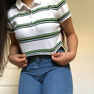 Two Striped Cropped Shirts